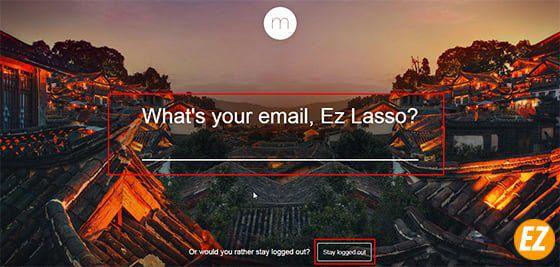 điền email vào hộp thoại