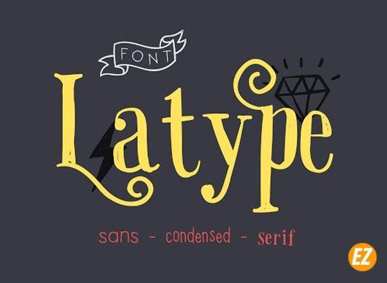 font chữ QX Latype việt hóa