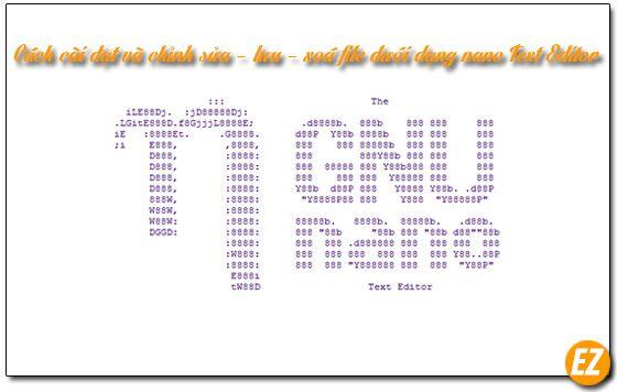 Cách cài đặt và chỉnh sửa – lưu – xoá file dưới dạng nano Text Editor