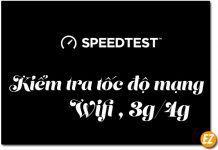 Cách kiểm tra tốc độ mạng Internet, Wifi