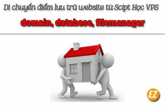 Di chuyển điểm lưu trữ website (domain, database, filemanager) từ Script Học VPS