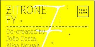 Font Zitrone FY việt hoá - Font chữ với đường kẽ tương phản tinh tế