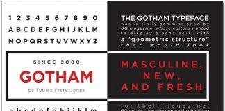 Font chữ Gotham Font Family Việt Hoá