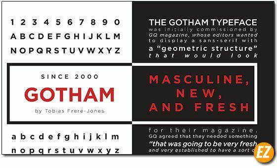 Font chữ Gotham Font Family Việt Hoá - Sự đều dặng của font chữ