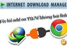 Hướng dẫn fix lỗi add on Internet Download Manager không bắt link