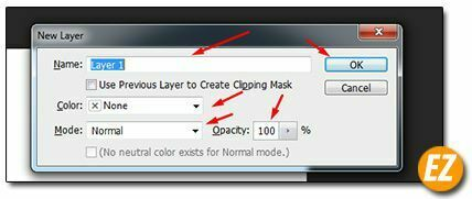 Tạo Layer trong Photoshop