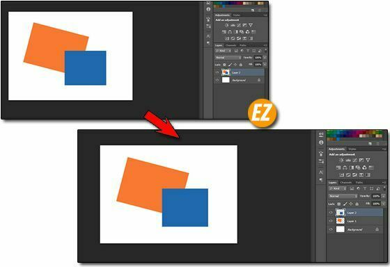 Gộp Layer trong Photoshop
