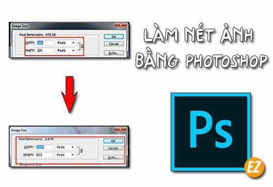 làm nét ảnh bằng Photoshop