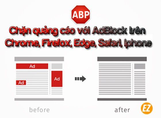 Cài đặt add on Adblock trên trinh duyet web