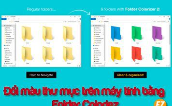 đổi màu thư mục bằng phần mềm folder colorizer