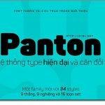 Font chữ Panton việt hóa