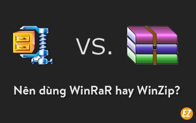 so sánh winrar với win zip