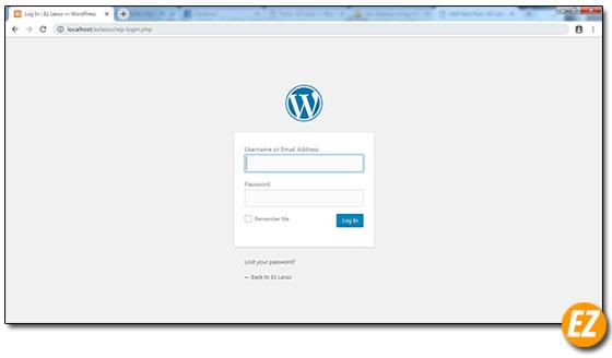 đăng nhập vào wordpress