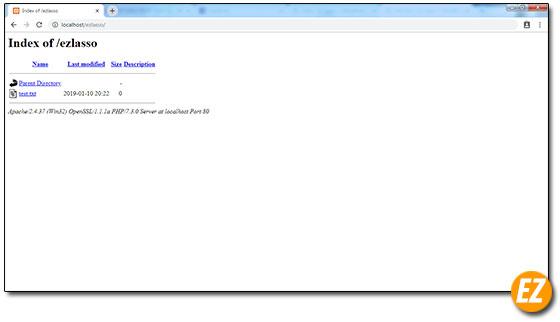 Kiểm tra thư mục chứa dữ liệu và database vừa tạo đã hoạt động