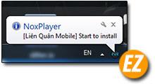Quá trình tự động cài đặt app trên nox app player qua file apk