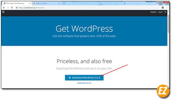 Tải souce code wordpress