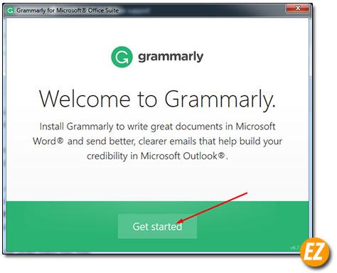 Bắt đầu cài đặt add in grammarly