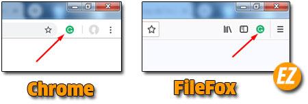 Icon Grammarly trên trình duyệt website
