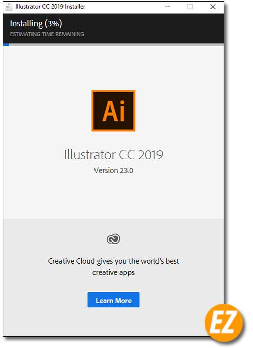 tư động cài đặt adobe illustrator cc 2019