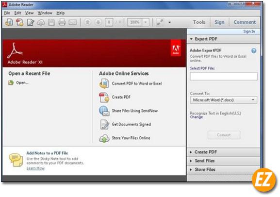 Đọc file pdf bằng Adobe Reader