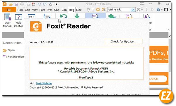 Đọc file pdf bằng Foxit reader