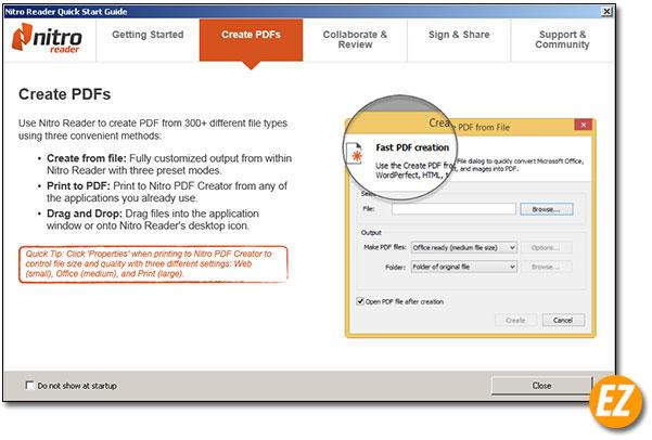 Đọc PDF bằng Nitro Reader