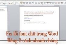 Fix lỗi font chữ trong word