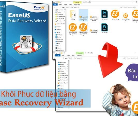 Khôi phục dữ liệu bằng data recovery wizard