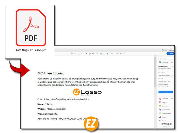 Mở file PDF trên Adobe Reader