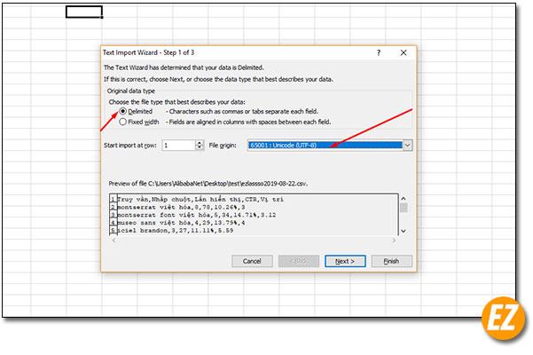 Sửa đổi định dạng trên file csv