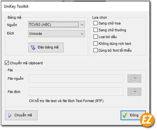 Unikey toolkit