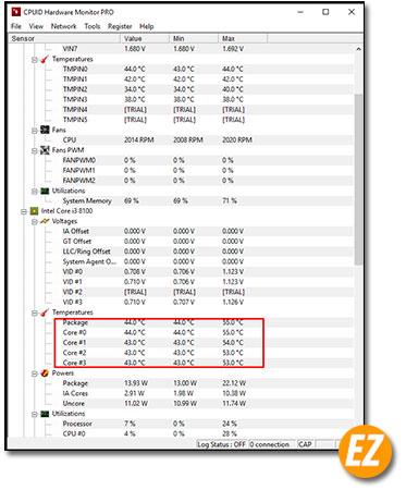 Xem nhiệt độ của CPU bằng phần mềm