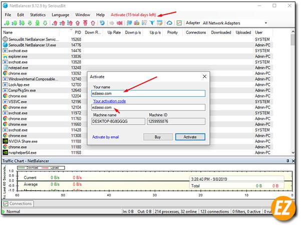 Kích hoạt phần mềm netbalancer