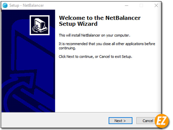 Lời chào từ chương trình cài đặt tự động netbalancer