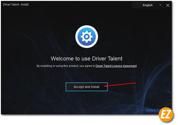 tiến hành cài đặt driver talent pro full