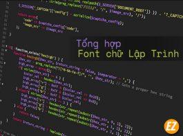 Tổng hợp bộ font chữ lập trình
