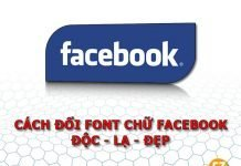 Cách đổi font chữ facebook
