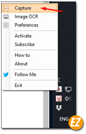 Chọn chụp hình trên màn hình desktop