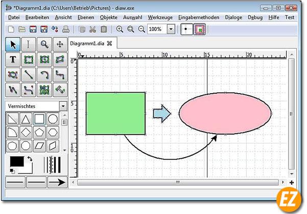 Dia phần mềm vẽ sơ đồ