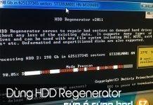 Dùng HDD regenerator sửa ổ cứng bad