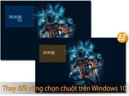 Thay đổi vùng chọn chuột trên windows 10