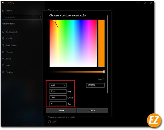 Xem mã màu RGB