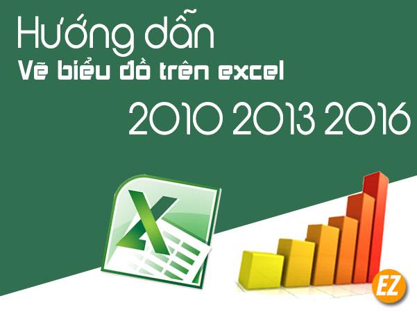 Vẽ biểu đồ trên excel 2010 2013 2016
