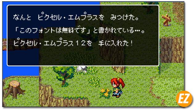 Font chữ tiếng Nhật pixelmplus